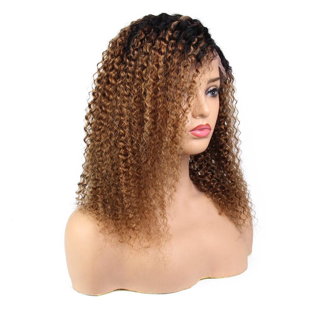 Kinky Curly Brazilian Lace Front Human Hair Wigs Virgin Brazilian